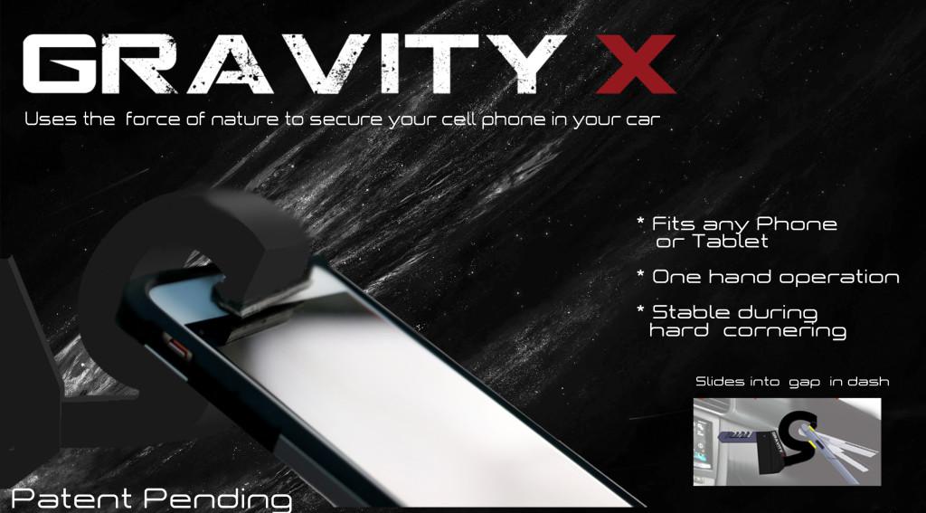 gravity x cell phone holder
