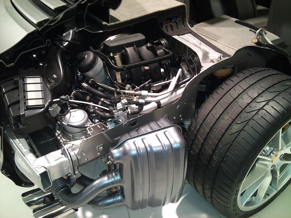 porsche motor and tire